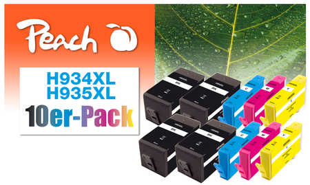 Peach  10er-Pack Tintenpatronen kompatibel zu HP OfficeJet Pro 6230