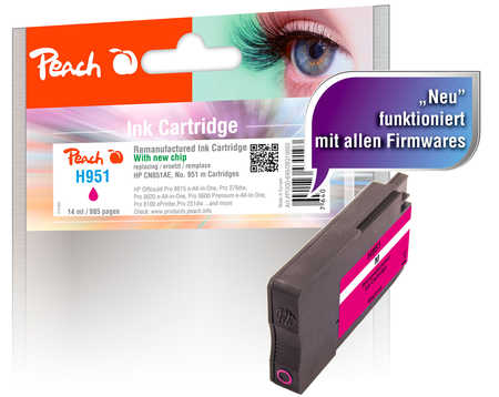 Peach  Tintenpatrone magenta kompatibel zu HP OfficeJet Pro 251 dw