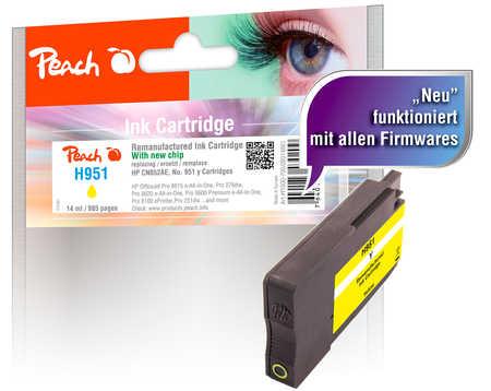 Peach  Tintenpatrone gelb kompatibel zu HP OfficeJet Pro 251 dw