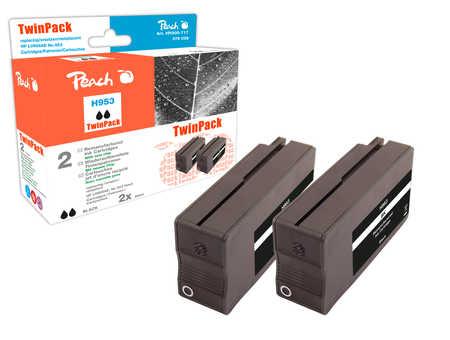 Peach  Doppelpack Tintenpatrone schwarz kompatibel zu HP OfficeJet Pro 7720
