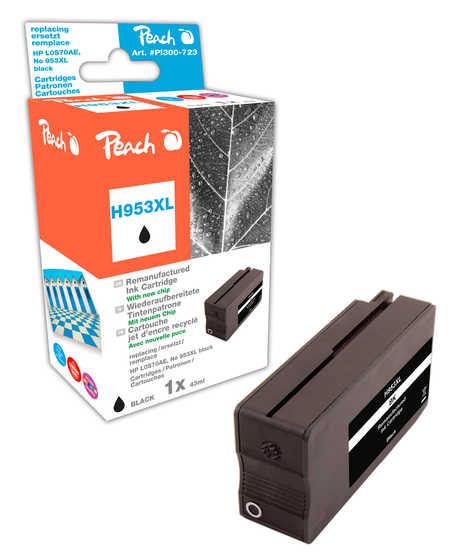Peach  Tintenpatrone schwarz HC kompatibel zu HP OfficeJet Pro 7720