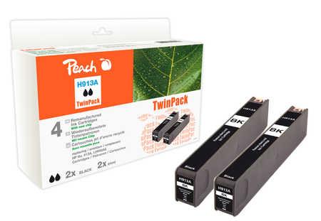 Peach  Doppelpack Tintenpatrone schwarz kompatibel zu HP PageWide Pro 477 dn