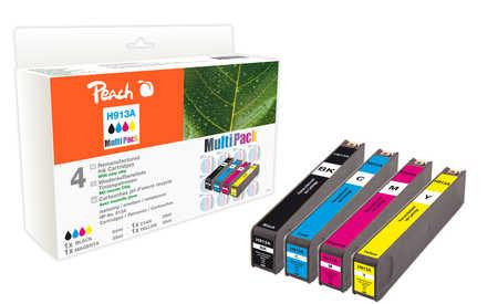 Peach  Spar Pack Tintenpatronen kompatibel zu HP PageWide Pro 477 dn