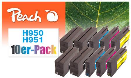 Peach  10er-Pack Tintenpatronen kompatibel zu HP OfficeJet Pro 251 dw