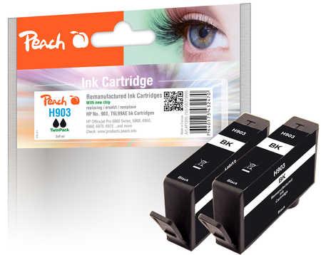 Peach  Doppelpack Tintenpatrone schwarz kompatibel zu HP OfficeJet 6950
