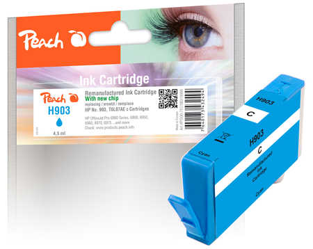 Peach  Tintenpatrone cyan kompatibel zu HP OfficeJet 6950