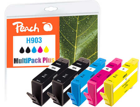 Peach  Spar Pack Plus Tintenpatronen kompatibel zu HP OfficeJet 6950