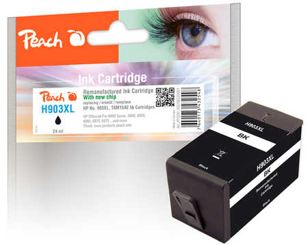 Peach  Tintenpatrone schwarz HC kompatibel zu HP OfficeJet 6950