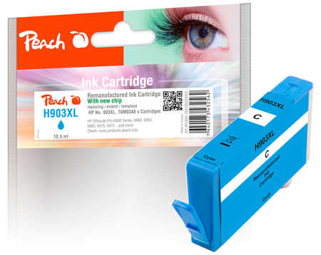 Peach  Tintenpatrone cyan HC kompatibel zu HP OfficeJet 6950