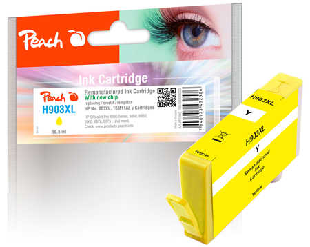 Peach  Tintenpatrone gelb HC kompatibel zu HP OfficeJet 6950