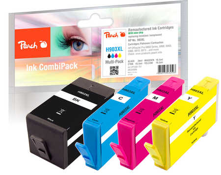 Peach  Spar Pack Tintenpatronen kompatibel zu HP OfficeJet 6950